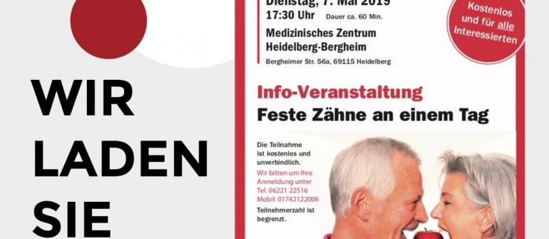 Info-Veranstaltung: feste Zähne an einem Tag